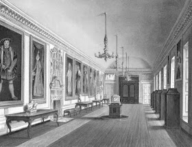 The Queen's Gallery, Kensington Palace, from The History of the Royal Residences by WH Pyne (1819)