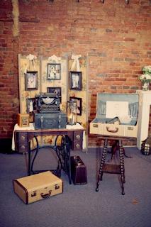 recycler des meubles anciens sa décoration de mariage  blog mariage www.unjourmonprinceviendra26.com