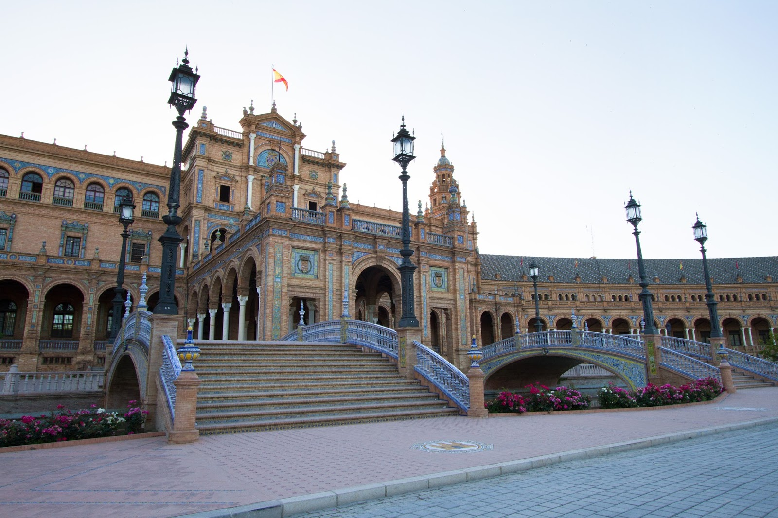 Plaza de Espana in Sevilla Spain