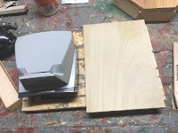 Cutting out a base for the tray