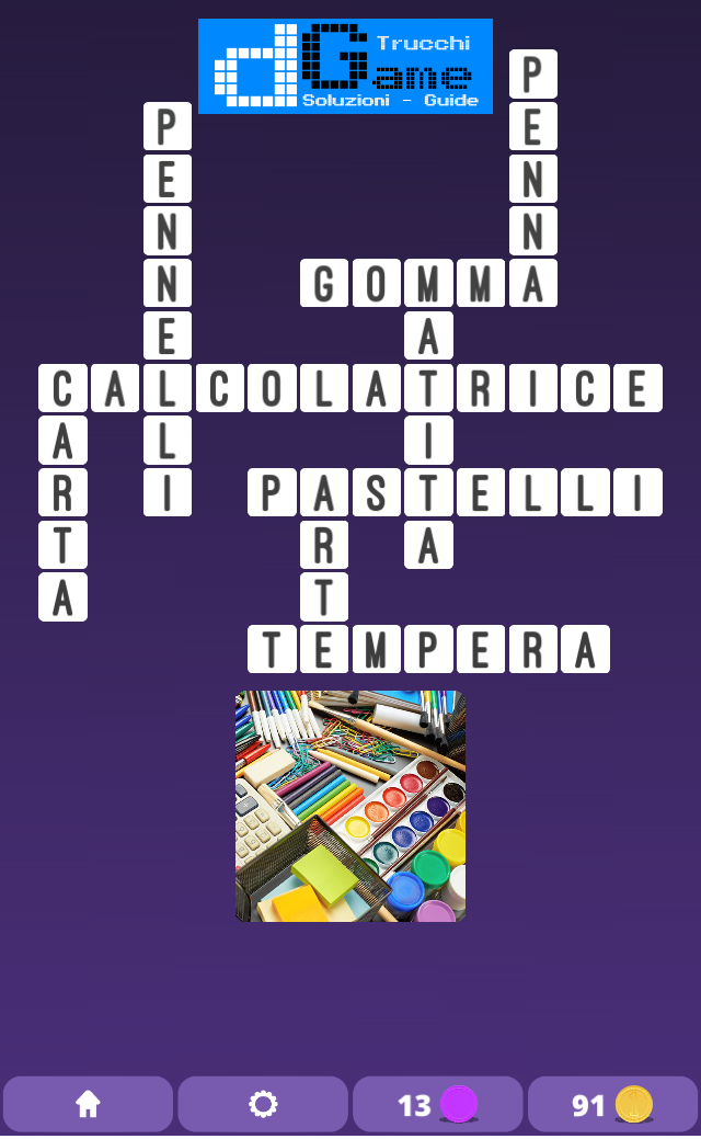 Soluzioni One Clue Crossword livello 1 Schema 6(Cruciverba illustrato)  | Parole e foto