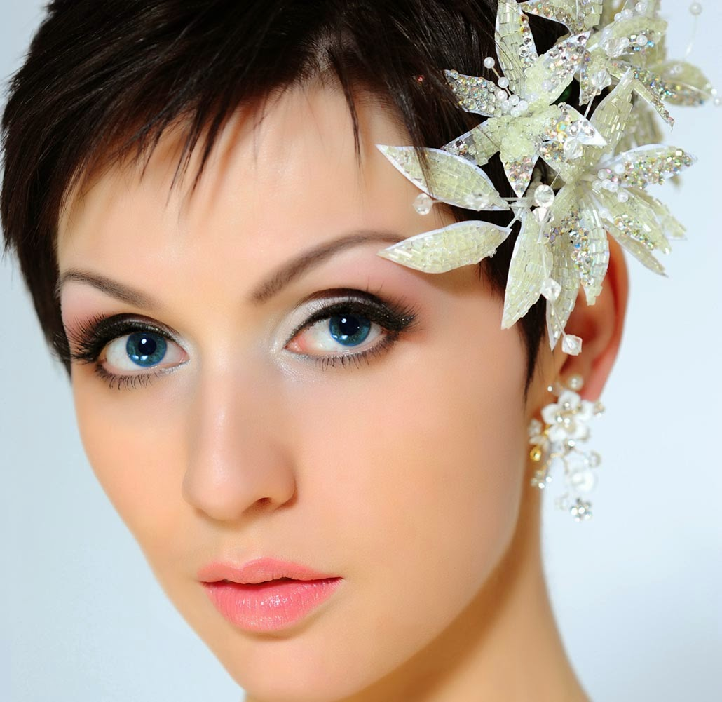 Wedding Hairstyles Short: Latest Easy Cute Bridal Hairstyles Trend 2015