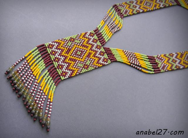 купить этнические украшения из бисера - гердан гайтан