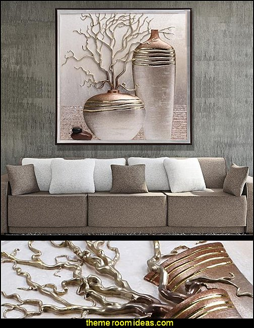 Three dimensional Flower Vase Sculpture Wall Art Prints