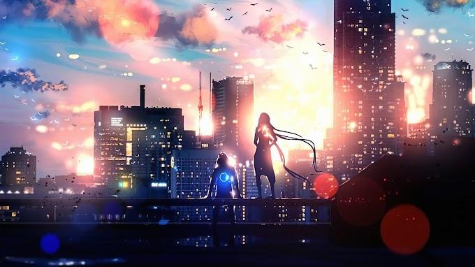 Papel de Parede Cidade Cyberpunk
