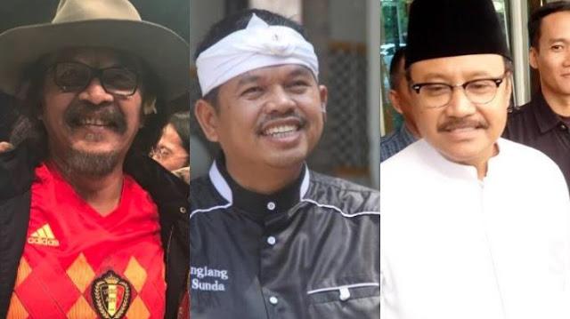Sudjiwo Tedjo Unggah Foto Bersama Gus Ipul dan Dedi Mulyadi: Lebih Senang Nemenin yang Kalah