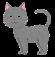 猫の模様のイラスト(グレー)