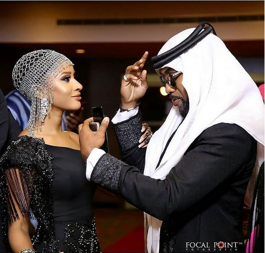 Adesua-Etomi-Banky-W-the-Arabian-Night-theme-Premiere-of-The-Wedding-Party-2-Destination-Dubai