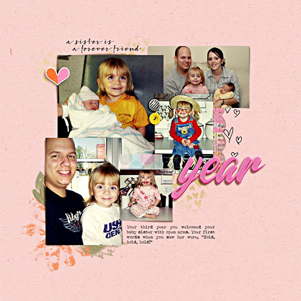 Digital Scrapbook Page by Liz