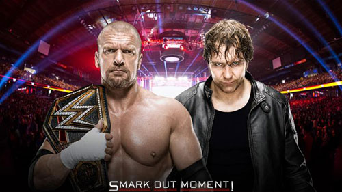 WWE Roadblock 2016 Dean Ambrose vs Triple HHH