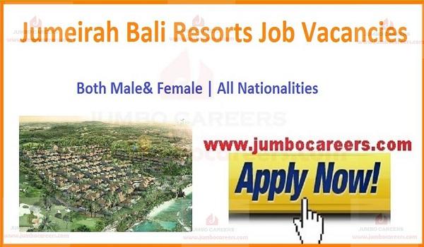 Resort jobs in Bali,