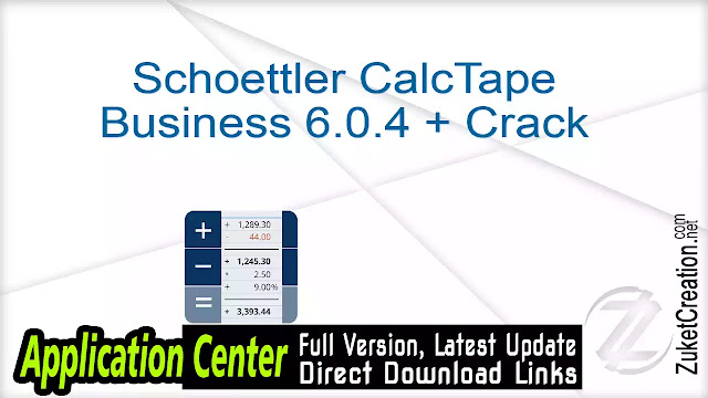 Schoettler CalcTape Business 6.0.4 + Crack
