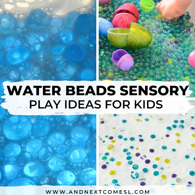 Water bead sensory play activities for preschoolers and toddlers