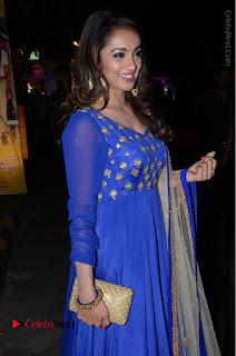 Telugu Actress Tejaswi Madivada Pos in Blue Long Dress at Nanna Nenu Na Boyfriends Audio Launch  0049.JPG