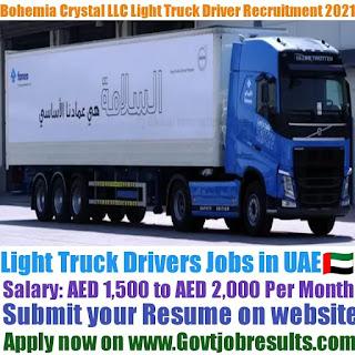 Bohemia Crystal LLC Light Truck Driver Recruitment 2021-22
