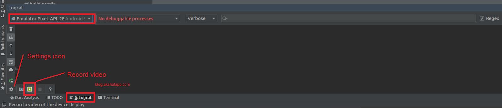 Android Studio - Screen Record