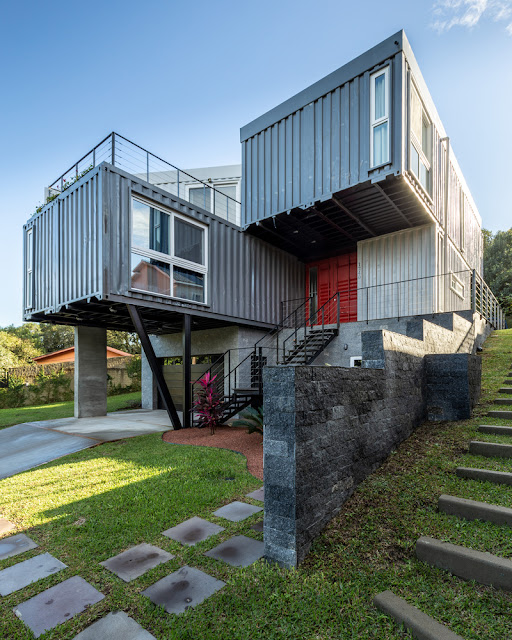 Casa Conteiner RD - 350 sqm Two Story Shipping Container Home, Brazil 1