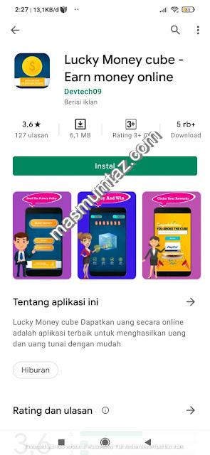 aplikasi penghasil dollar lucky money cube