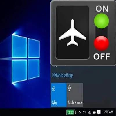Windows 10 عالقًا في وضع الطائرة