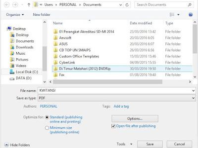 Cara Membuat File PDF Menggunakan MS-Oficce Word