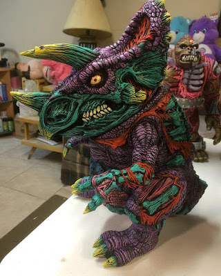 Designer Con 2016 Exclusive Dieceratops 1-Off Custom Vinyl Figure by James Groman