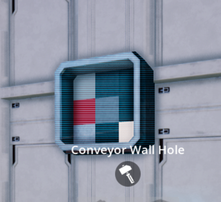 Conveyor Wall Hole