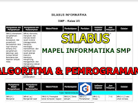 SILABUS MAPEL INFORMATIKA SMP: Algoritma dan Pemrograman