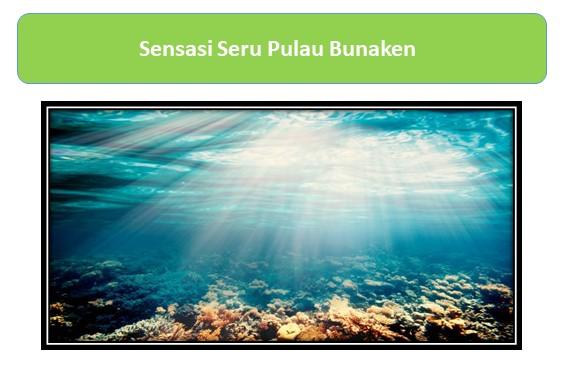 Sensasi Seru Pulau Bunaken