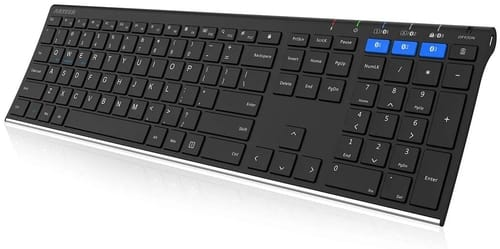 Review Arteck Universal Stainless Steel Wireless Keyboard