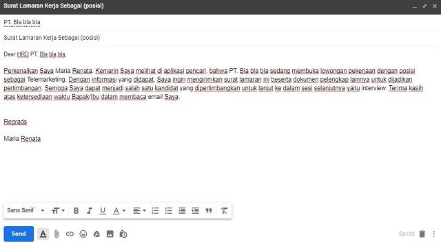 Cara Membuat Lamaran Lewat Email