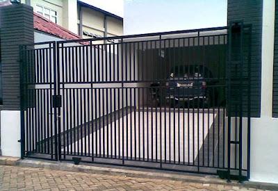 contoh pagar besi minimalis