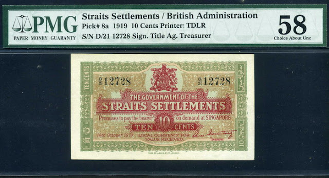 Straits Settlements cents fractional currency