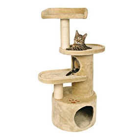 19bd9b8459aa This is a cat house similar to the one I have for my cats. You can purchase  a regular scratching post with a house on it at Walmart if you didn't want  ...