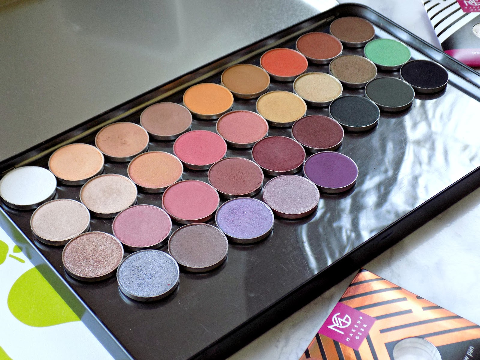 Makeup Geek eyeshadows, my collection