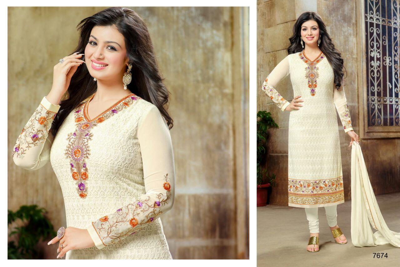 Zisa-30- Latest Fashion Designer Georgette Salawar Suit