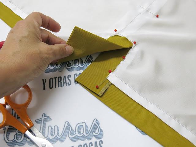 abertura con forro para falda