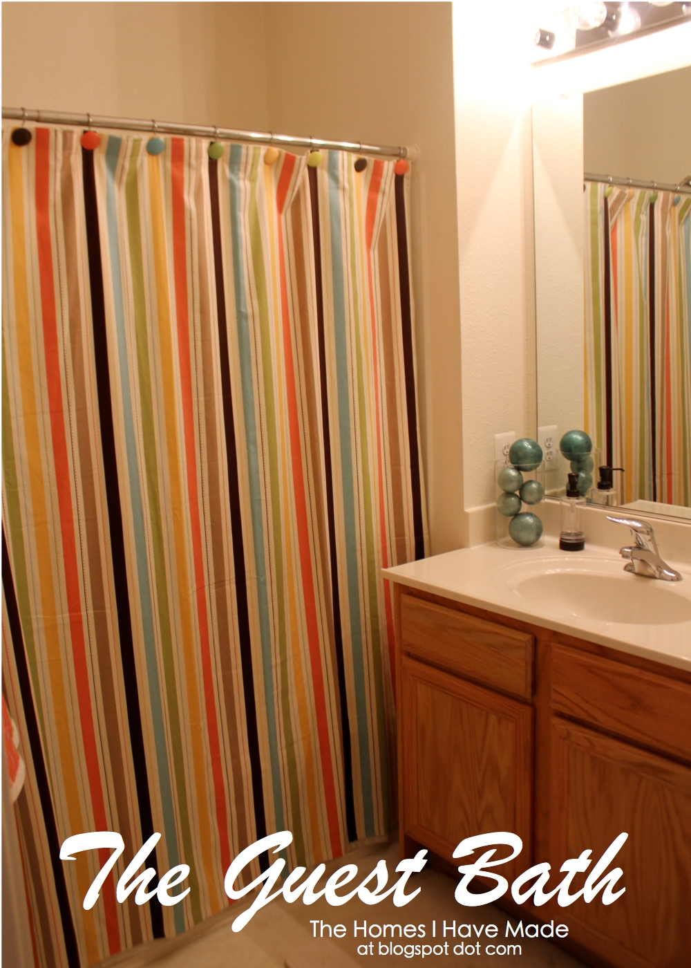 Orange Striped Shower Curtain | Sevenstonesinc.com