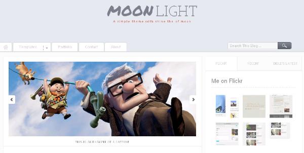 MoonLight - Clean Magazine Blogger Template