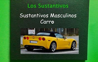 cuadro con Los Sustantivos en Español
