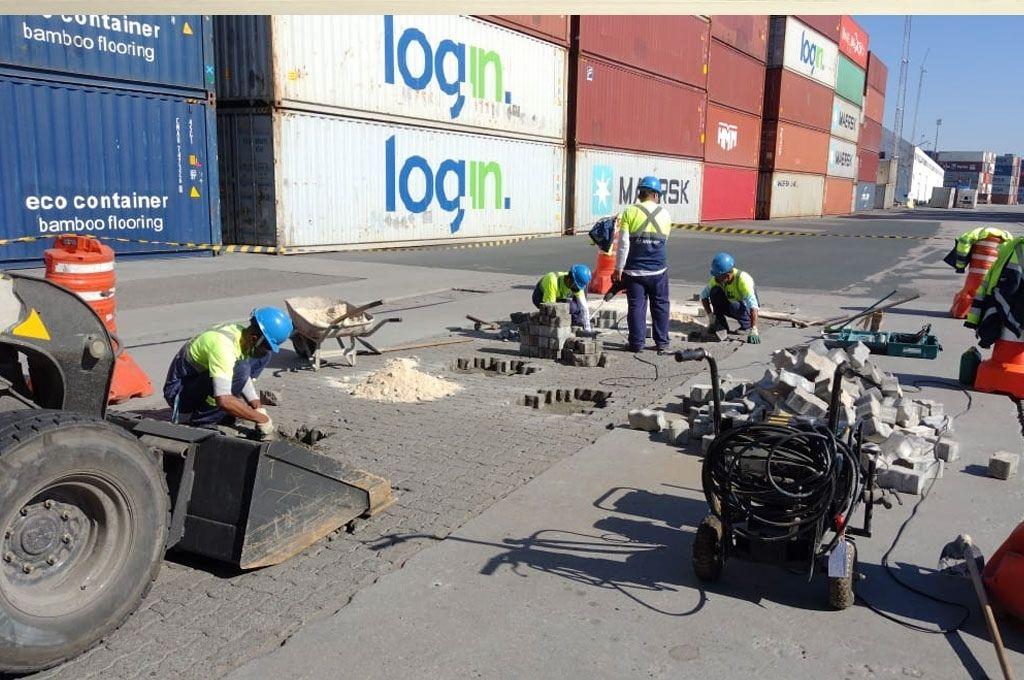 Porto de Itajaí recebe manutenção do pavimento