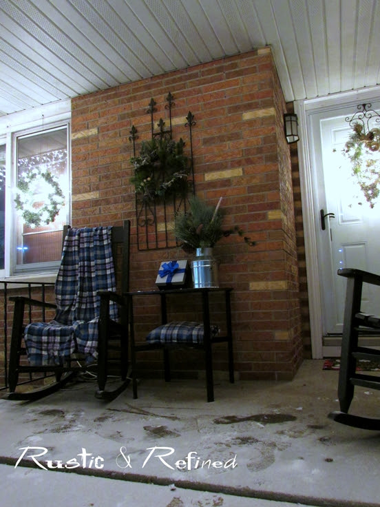 Front porch ideas for Christmas