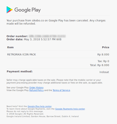Invoice Refund Google Play Store
