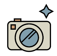 Graphic of a point-and-shoot camera