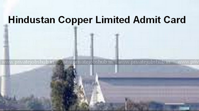 Hindustan Copper Limited Admit Card