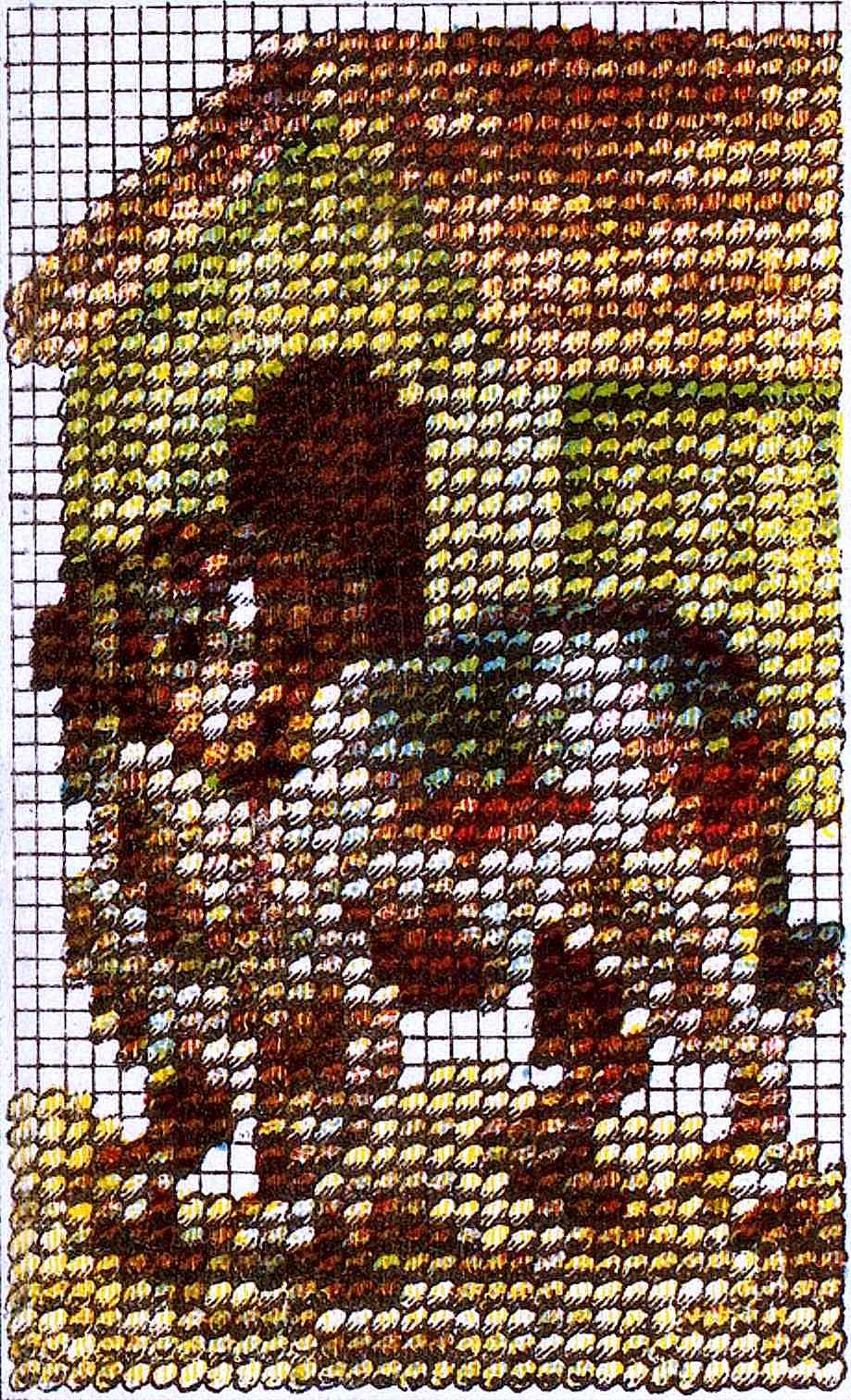 yarn needlepoint dog