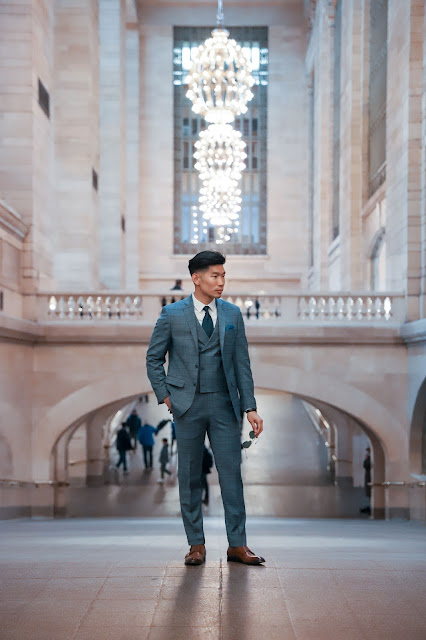 Wearing a Three Piece Windowpane Suit | Levitate Style
