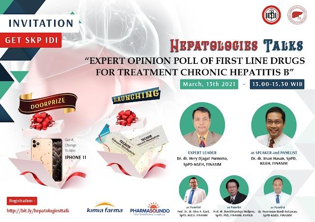 "(FREE SKP IDI) HEPATOLOGIEST TALK    ""Expert Opinion Poll of First Line Drugs for Treatment Chronic Hepatitis B"""