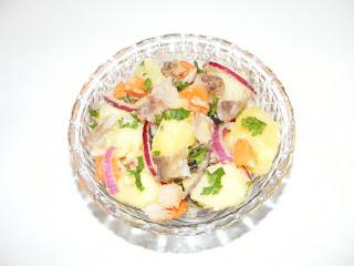 retete, salata de cartofi cu peste afumat, reteta salata orientala cu peste afumat, retete de mancare,