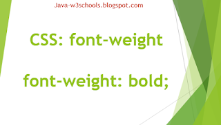 CSS Property font-weight