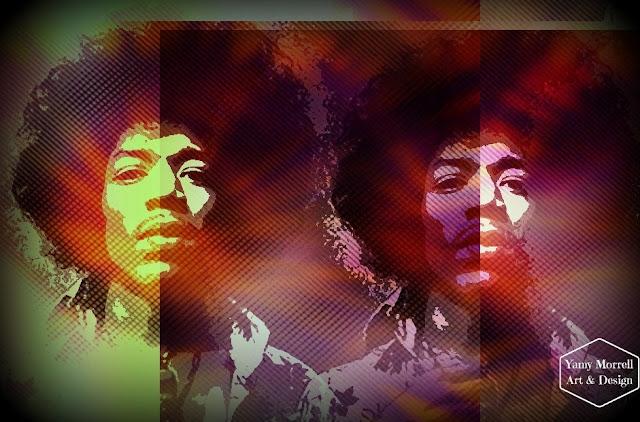Jimi-Hendrix-impresion-digital-art-by-yamy-morrell